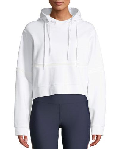 Lowell Hooded Crop Pullover Sweatshirt