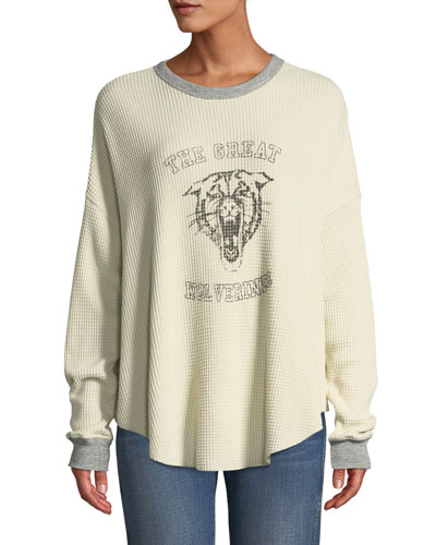 1dbc86e3cca The Circle Thermal Graphic Long-Sleeve Sweater