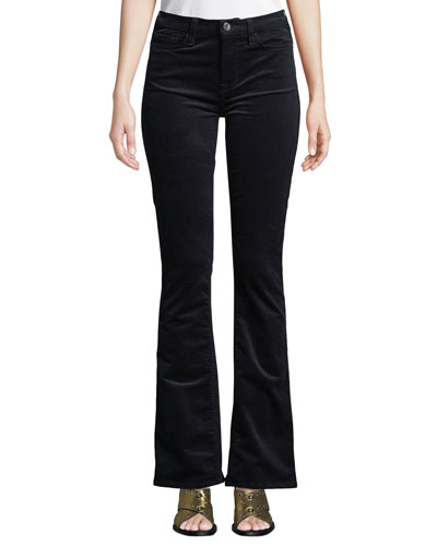 Slim Boot-Cut Mid-Rise Corduroy Pants