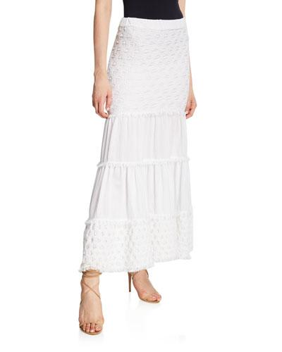 Geras Tiered Cotton Maxi Skirt