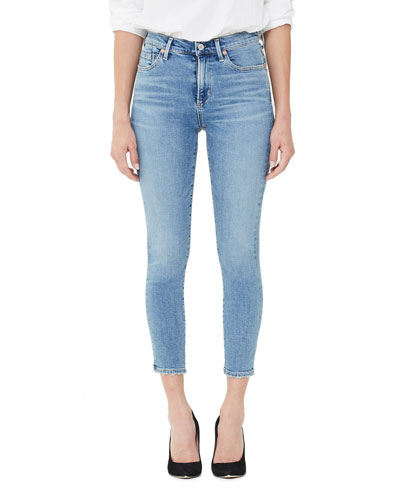 Rocket Crop High-Rise Skinny Jeans, Serenity