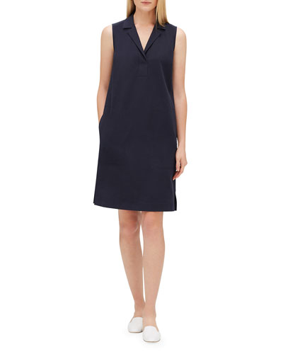 Kit V-Neck Sleeveless Dress with Pockets