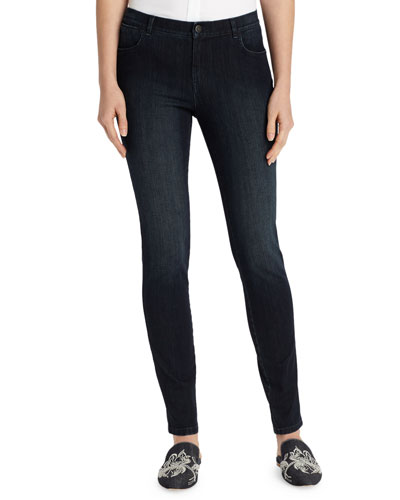 Mercer Stretch-Denim Slim-Leg Jeans, Plus Size