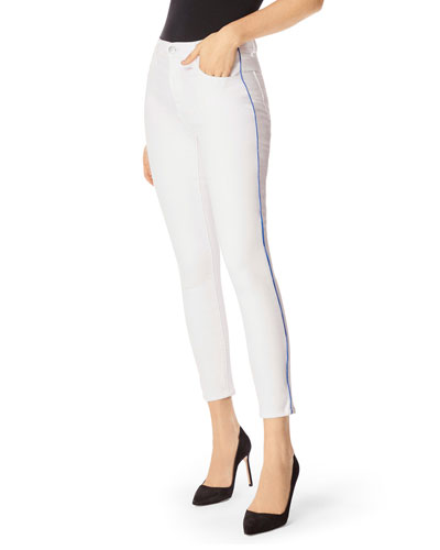 Alana High-Rise Cropped Skinny Jeans w/ Piping