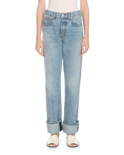 Rigid Cuffed Stovepipe Jeans