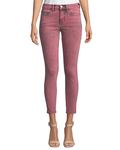 The Stiletto Mid-Rise Ankle Skinny Jeans
