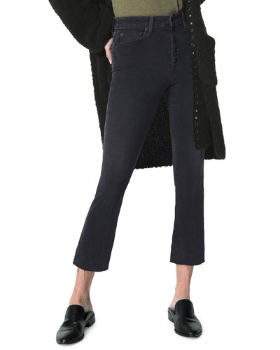 Elisabeth High-Rise Cropped Boot-Cut Jeans