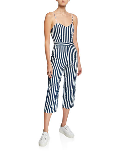 9355dbf0bf The Cut-It-Out Striped Sleeveless Jumpsuit