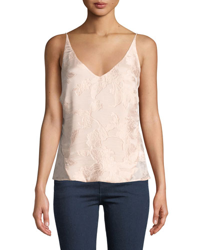 Lucy Floral Jacquard V-Neck Camisole