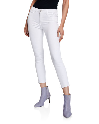 835 Mid-Rise Studded Crop Skinny Jeans