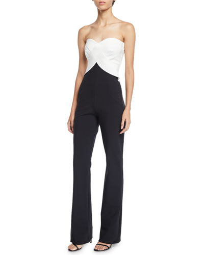 Bodily Strapless Two-Tone Jumpsuit