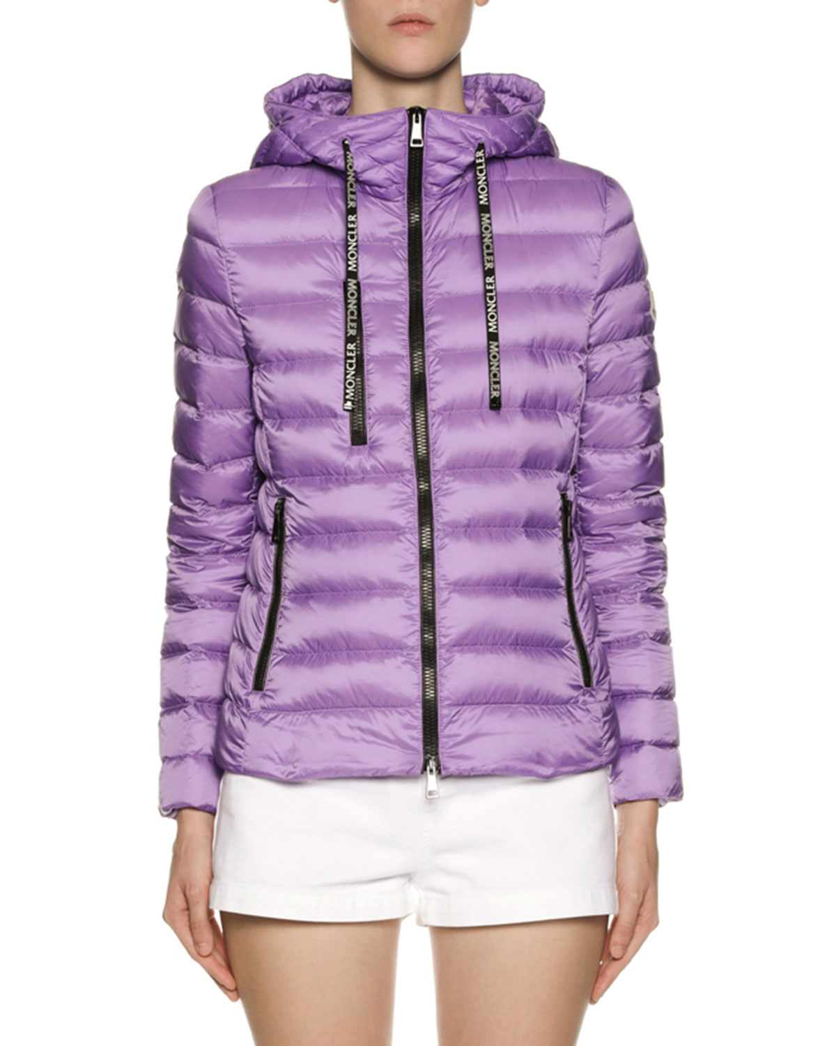 Seoul Hooded Puffer Jacket in Lilac