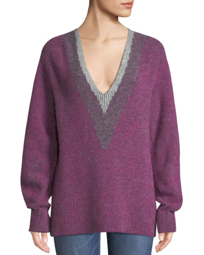 Jonie V-Neck Pullover Sweater
