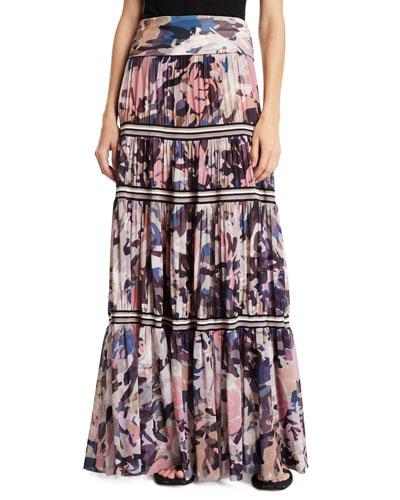2a0cdecd77f6 Long Camouflage-Print Convertible Skirt/Strapless Dress