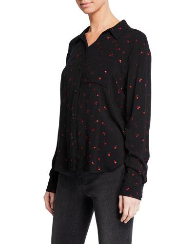 Rocsi Cherry-Patterned Button-Front Shirt