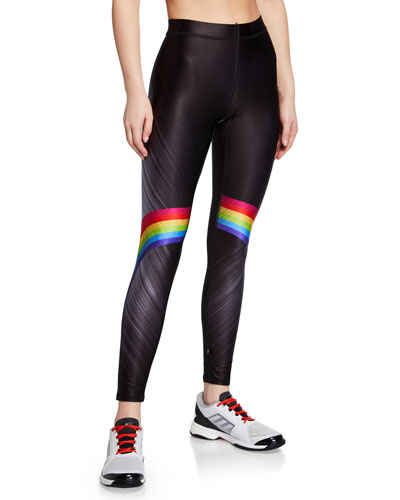 fcf15dcc Rainbow-Print High-Rise Performance Leggings Quick Look. Terez