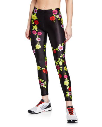 ecdecd57e Floral-Print Performance Leggings