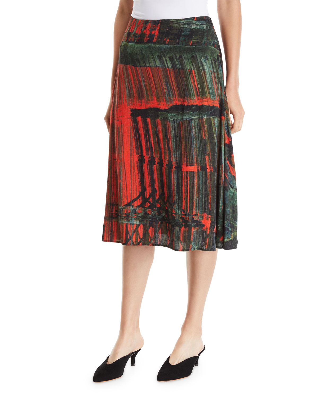 PALMER//HARDING A-Line Patterned Multi Skirt in Multi Pattern