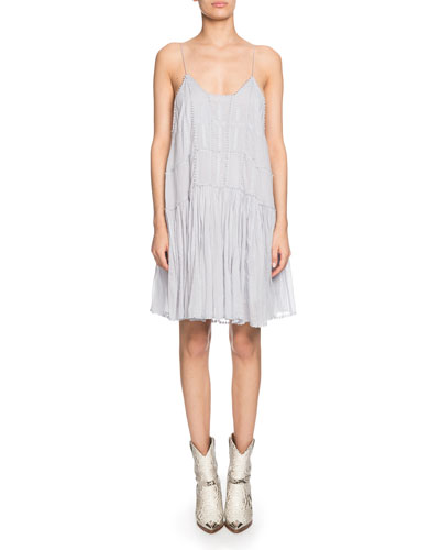 Amelie Embroidered Shift Dress