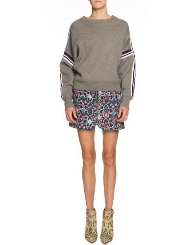 Kaori Racer Stripe Crewneck Sweater