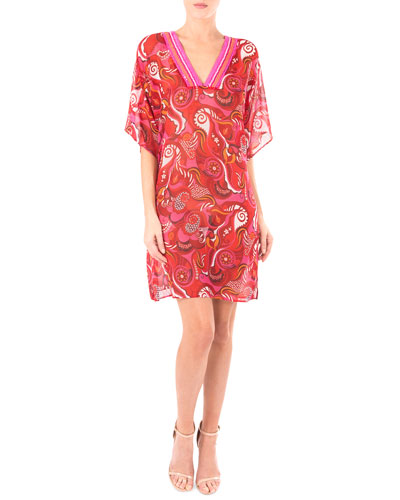Coraux Merveille Printed V-Neck Tunic