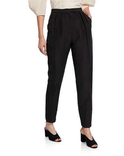 New Joust Pleated High-Waist Pants