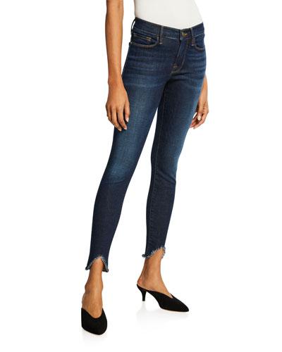 Le Skinny De Jeanne Raw-Hem Mid-Rise Jeans