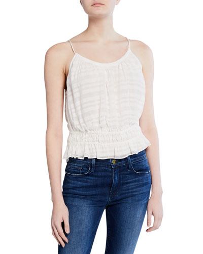 Smocked Scoop-Neck Tank