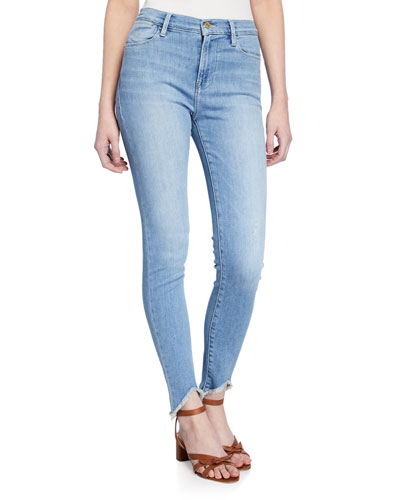 Floyd Le High Triangle Raw-Edge Skinny Jeans