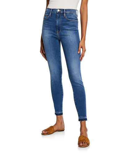 Ali High-Rise Cigarette Jeans w/ Released Hem