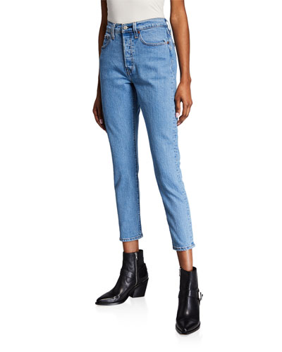 501 Cropped Mid-Rise Skinny Jeans