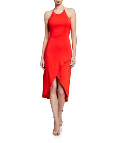 Kristy High-Low Halter Dress