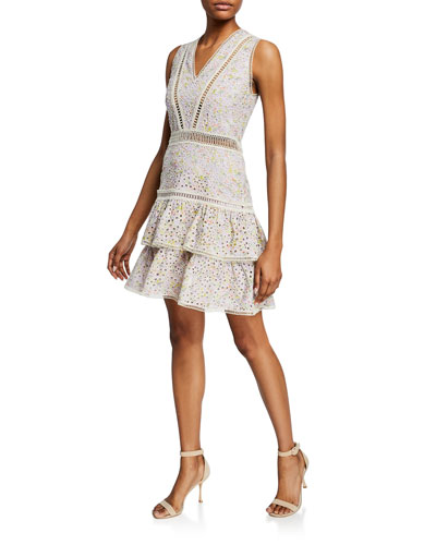 Tiered Sleeveless Dress Bergdorfgoodman Com