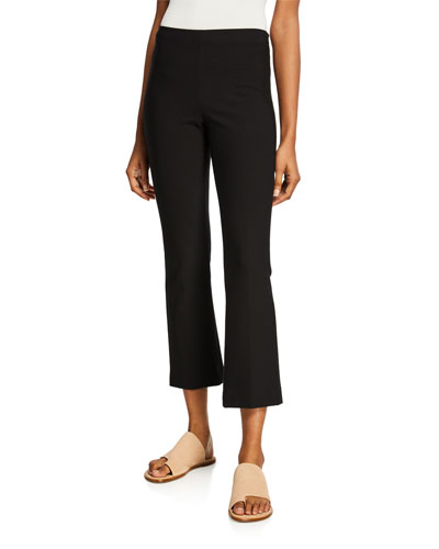 Cropped Flared-Leg Pants