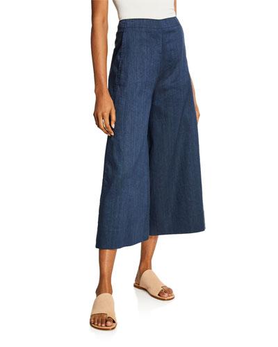 High-rise Flare-Leg Culottes