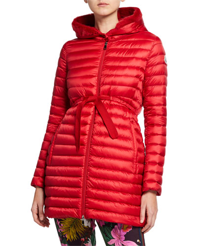 4c503755e49a Barbel Quilted Puffer Coat with Fur Trim