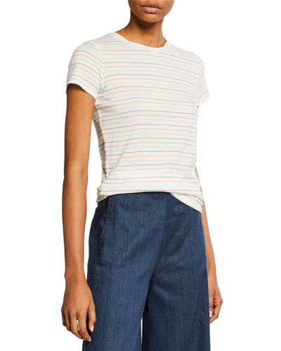 Multi Stripe Essential Cotton T-Shirt