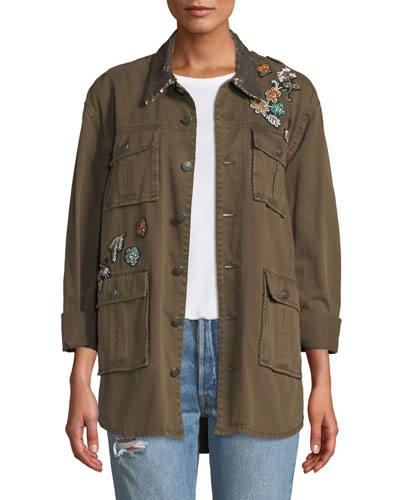 Sequin Patch Canyon Jacket