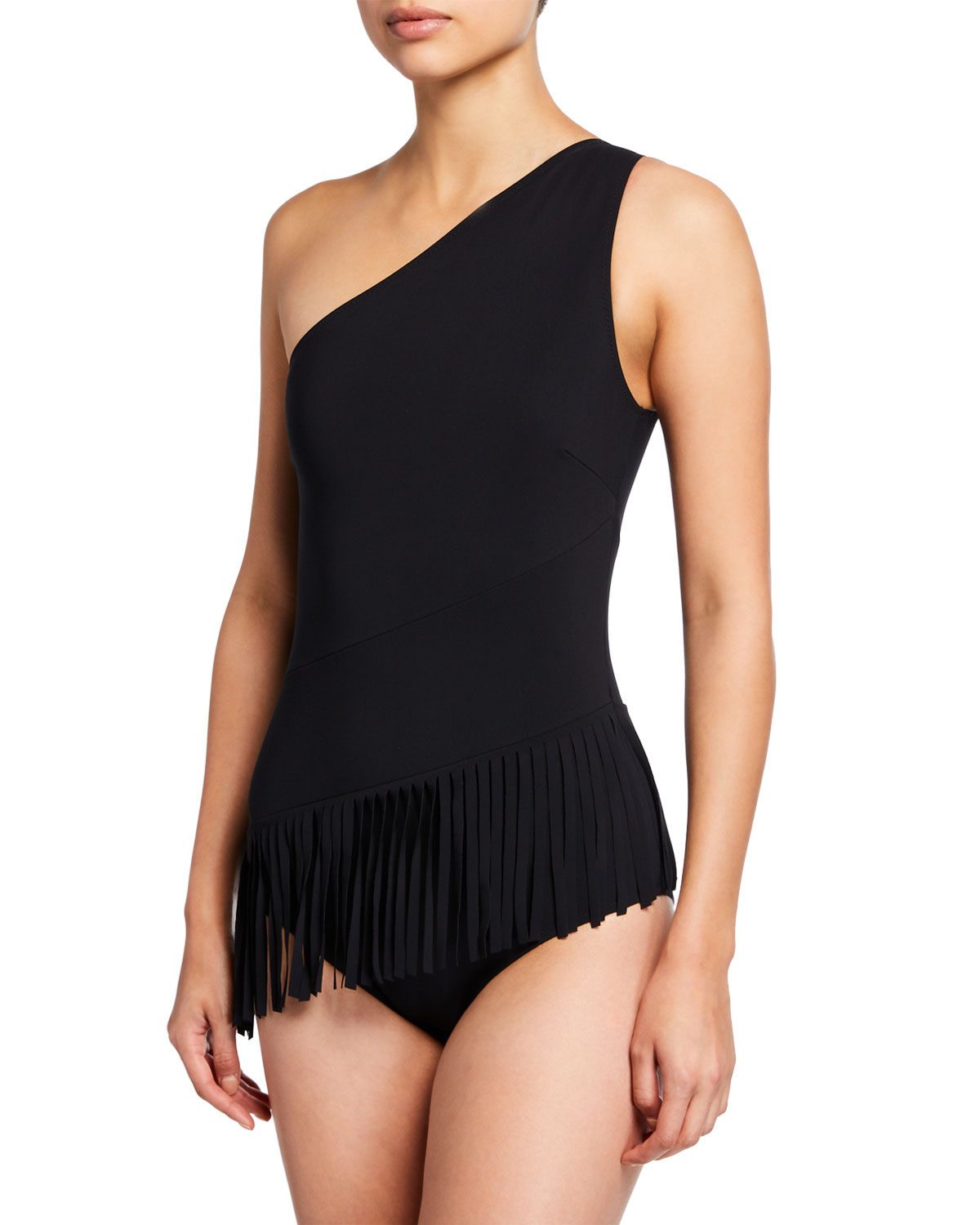 Sinead Off-The-Shoulder One-Piece Bathing Suit in Black