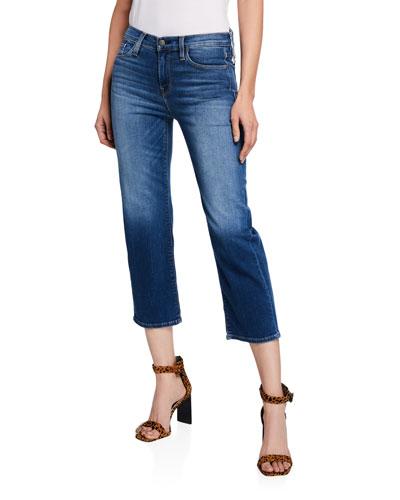 Stella Mid-Rise Crop Straight-Leg Jeans