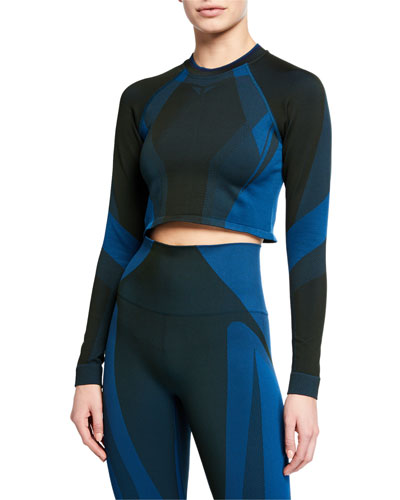 All Seasons Seamless Cropped Performance Top