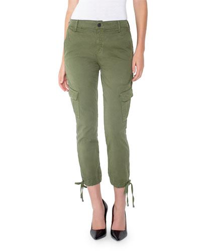 Chloe Cropped Skinny Cargo Pants