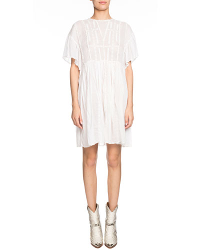 081b52d65f Annaelle Embroidered Flared Short-Sleeve Dress Quick Look. Etoile Isabel  Marant