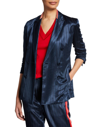 Ryan Striped Double-Breasted Blazer
