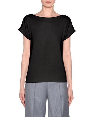 Short Sleeve Jersey Round Neck Tee