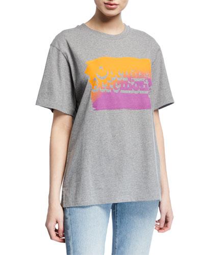 Unisex Cotton T-Shirt with Ombre OC Logo