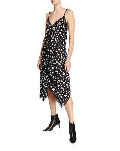 9addf2c60d2e Spring Daisy-Print V-Neck Sleeveless Handkerchief Dress Quick Look. Jason Wu