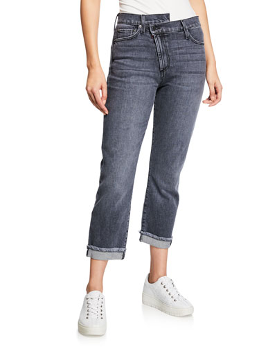 Amazing Asymmetrical Slim Straight Jeans