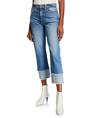 Amazing High-Rise Double-Hem Cropped Jeans