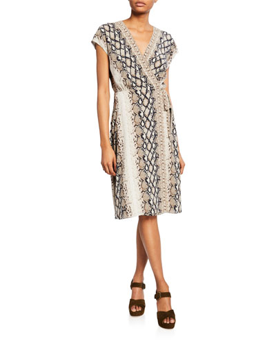 Bethwyn C Printed Wrap Dress